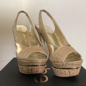Bebe corked heel crocodile - 6